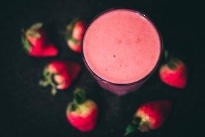 Bebida proteica de sabor a morango