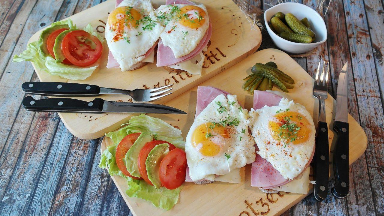 Refeições saudáveis com ovo